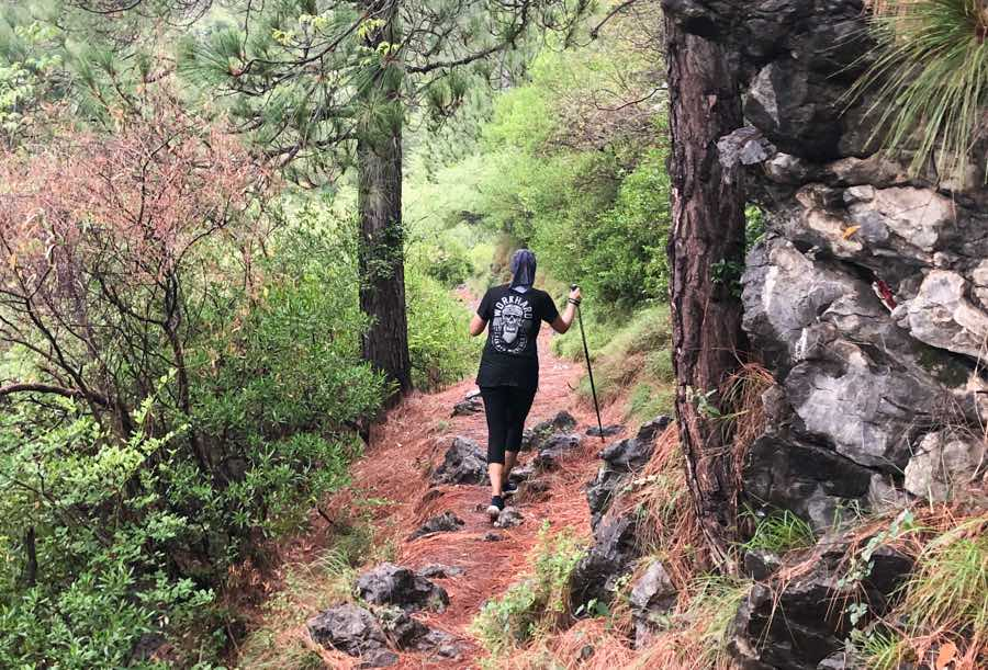hiking for exercise in nature